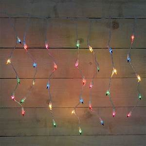 50 Count Window Icicle Lights 50 Count Icicle Multi Color String Lights