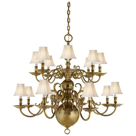 ralph chandelier lillianne sixteen light chandelier in brass