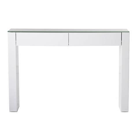 bureau angle blanc console 2 tiroirs laquée blanche samoa