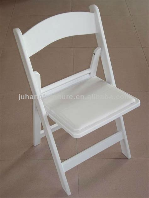 wholesale white resin folding outdoor wedding chair jh