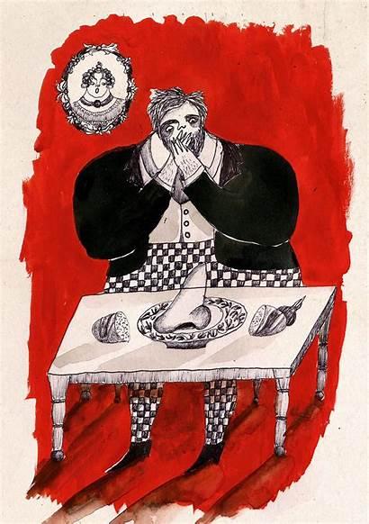 Nose Illustrations Gogol Behance Nikolay Soboleva Julia
