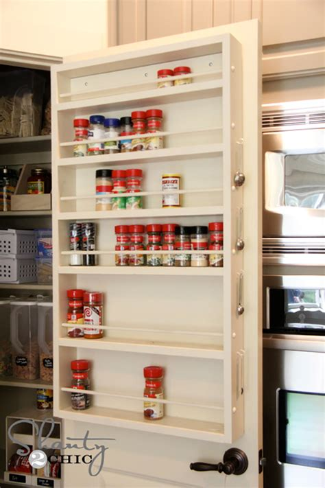 Door Spice Rack Organizer by 8 Pretty Pantry Door Ideas That Showcase Your Storeroom As