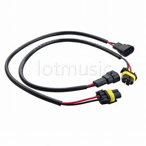 2 9005 Wire Wiring Harness Xenon Light Headlight Extension