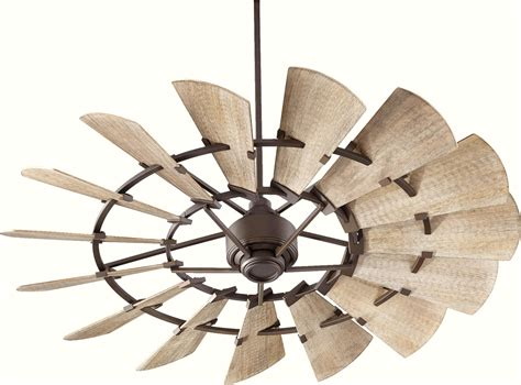windmill fan with light quorum windmill 60 ceiling fan 96015 86 in oiled bronze