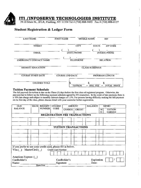 iti registration form   templates   word