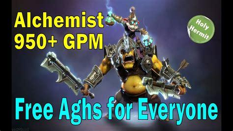 dota  alchemist mid carry  gpm gameplay