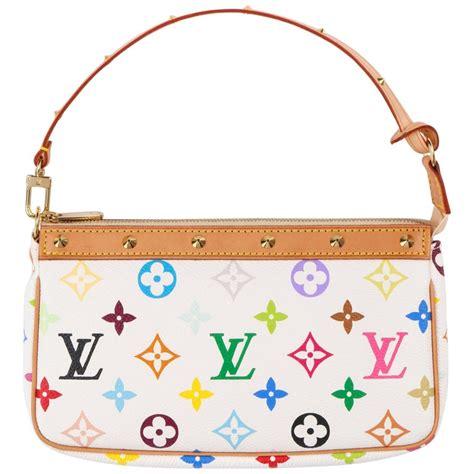 louis vuitton ss  takashi murakami pochette multicolor monogram purse nwt  sale  stdibs