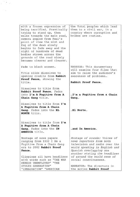 documentary script template screenplay template for pages gilmore sherman palladino shares page of how to
