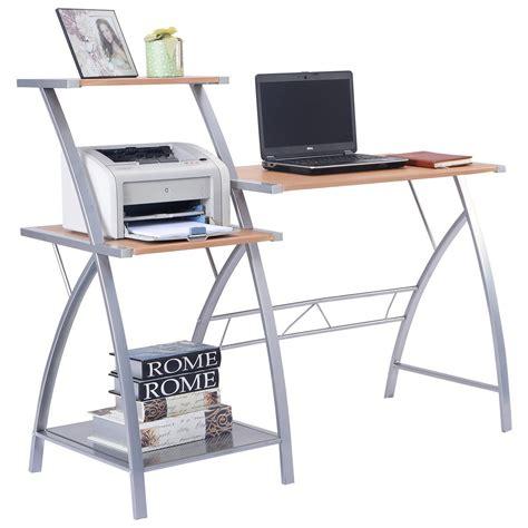 writing desk computer table w 3 tier shelf computer laptop writing study desk table