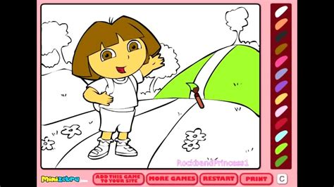 play  dora coloring games coloring pages