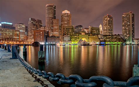 Boston Harbor At Night Pentax User Photo Gallery
