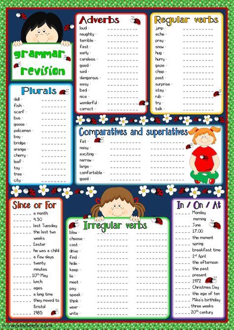 grammar revision interactive worksheet