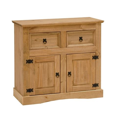 Corona Mexican Pine Sideboard by Corona Mexican Solid Pine Small 2 Door Sideboard L199