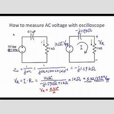 How To Use An Oscilloscope To Measure Voltage  Youtube