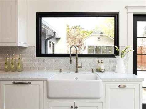 kitchen sink window ideas creative kitchen window treatments hgtv pictures ideas