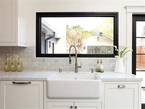 kitchen sink window treatment ideas creative kitchen window treatments hgtv pictures ideas
