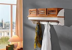Paulownia Holz Möbel : garderobe 2 paris paulownia holz weiss vintage ~ Buech-reservation.com Haus und Dekorationen
