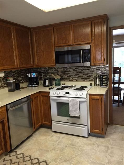 smart tiles kitchen backsplash using vinyl smart tiles to update my kitchen hometalk 5573