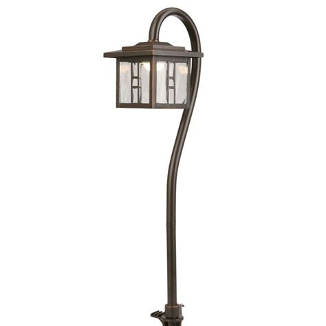 integrated led outdoor lighting hton bay low voltage 10 watt equivalent oil rubbed