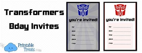 Transformer Website Templates by Transformers Birthday Invitation Templates