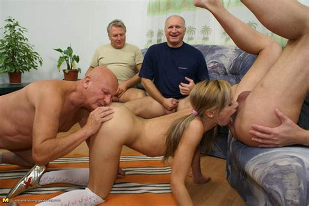 #Hot #Teen #Takes #On #A #Garage #Full #Of #Horny #Old #Men