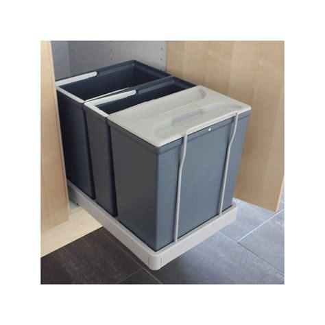 poubelle pour cuisine poubelle cuisine tri selectif 3 bacs maison design