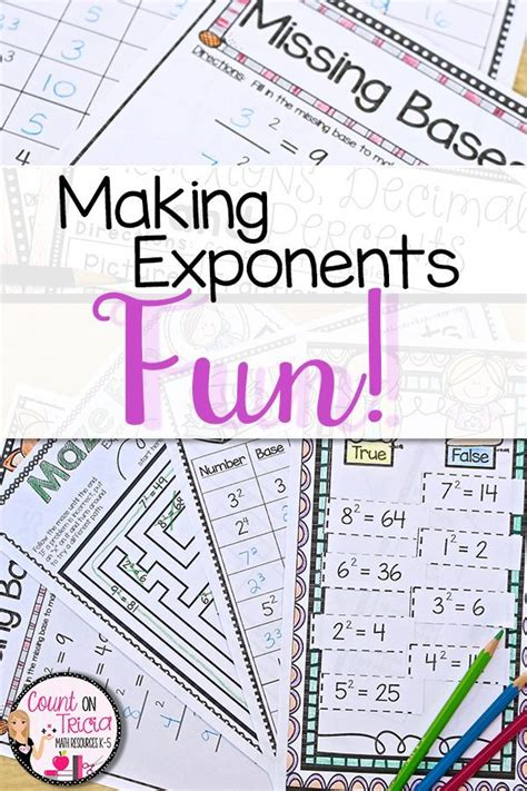 exponent rules  images math interactive notebook