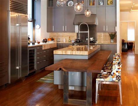 cuisine avec table integr 233 e deco maison moderne