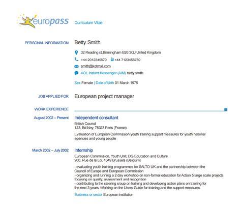 20473 europass curriculum vitae accueil europass