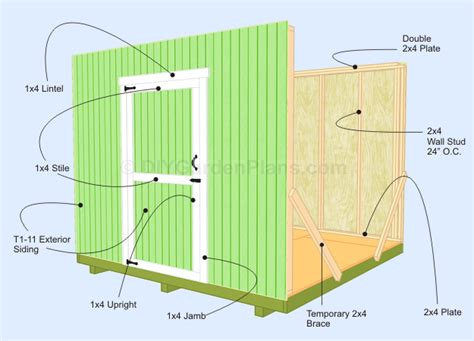 storage build diy 8x8 shed plans and material lists