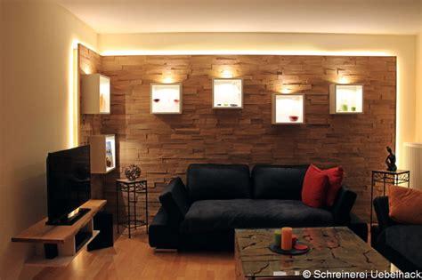 Wohnzimmer Eiche Modern by Wohnzimmer Mit Wandverkleidung In Spaltholz Eiche Modern