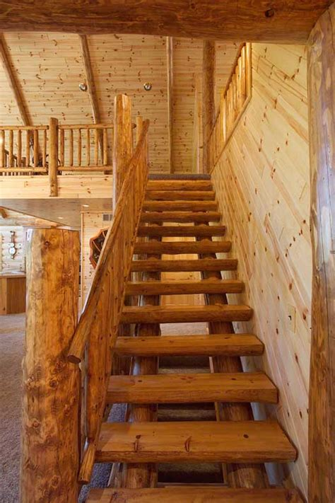 log railings  stairs cedar  pine log railing systems
