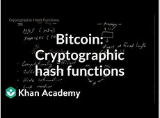 Bitcoin Cryptographic hash functions video Khan Academy
