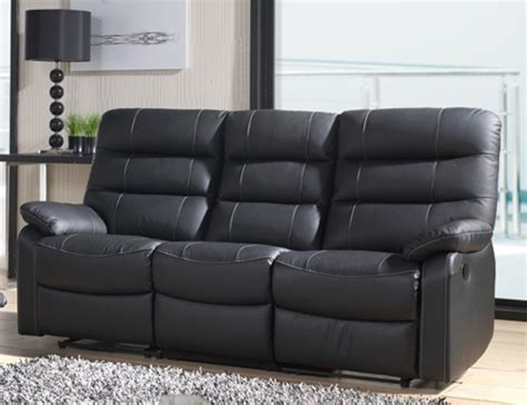 canap relax canape relax electrique 3 places cameo noir 3500