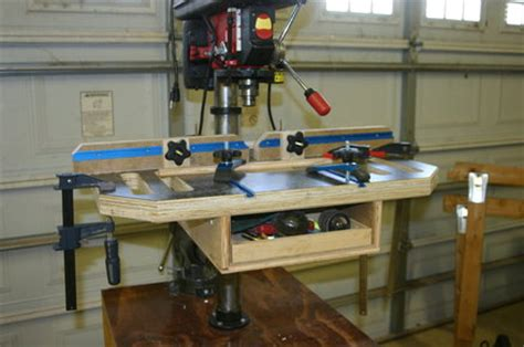 woodwork shopnotes drill press table plans  plans
