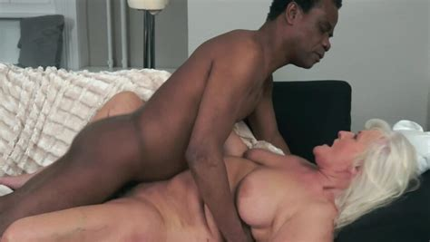 A Granny That Loves Black Cock Is Having Interracial Sex