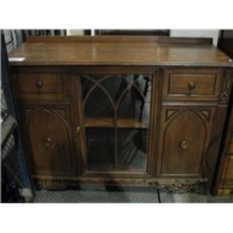 Glass Front Buffet Sideboard oak glass front sideboard buffet able auctions