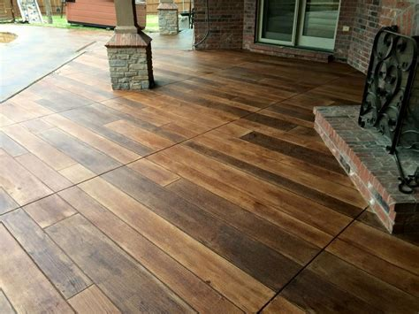 concrete wood patio ponca city ok decorative concrete