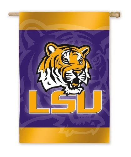 LSU: LSU Fighting Tigers Silk Reflections Flag - Regular Size