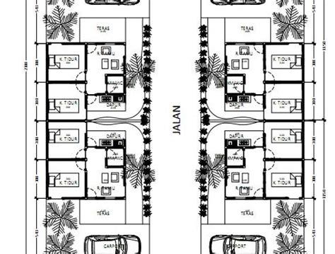 desain siteplan cluster  kavling  rumah type