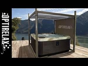 outdoor garten whirlpool uberdachung automatische With whirlpool garten mit balkon mit katzennetz