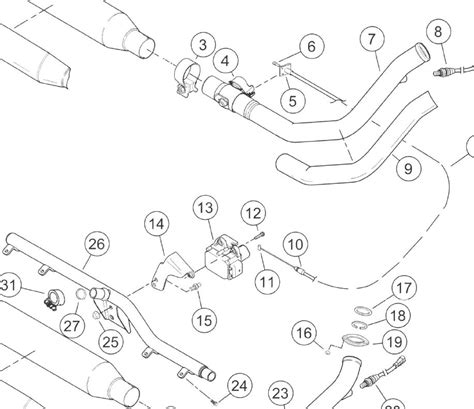 Harley Davidson Slip On Exhaust Diagram by Cracked Pipe On New Heritage Harley Davidson Forums
