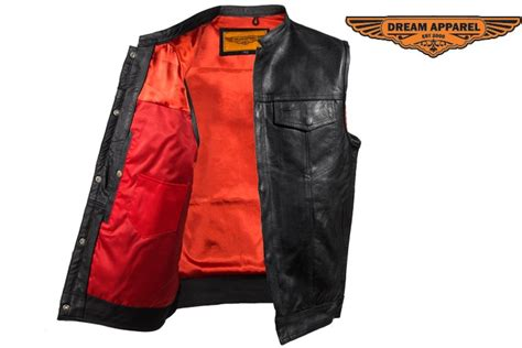 Son Of Anarchy Style Red Liner Vest