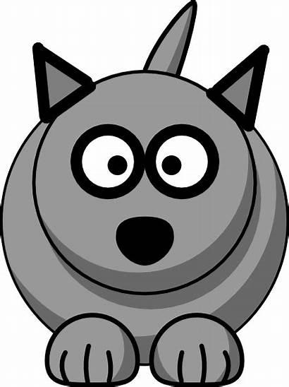 Wolf Cartoon Clip Cat Clipart Clker Vector