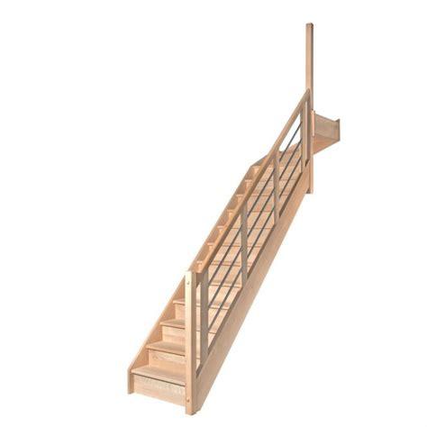 Escalier Quart Tournant Haut Escalier 1 4 Tournant Haut Avec Contremarches Balustres Aluminium Horizontales Escaliers D2bois Fr