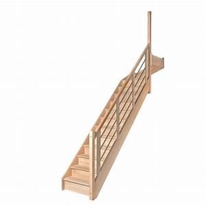 Escalier Quart Tournant Haut Droit : escalier 1 4 tournant haut avec contremarches balustres ~ Dailycaller-alerts.com Idées de Décoration