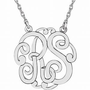 carinagems monogram 2 letters necklace With 2 letter monogram necklace