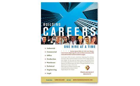 employment agency jobs fair flyer template design
