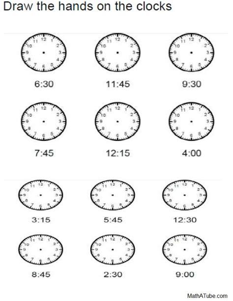 telling time printables on pinterest telling time