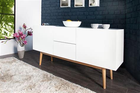 sideboard skandinavisches design design sideboard lisboa wei 223 150cm mit eiche f 252 223 en riess ambiente onlineshop